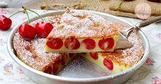 Clafoutis alle ciliegie un dolce francese cremoso, facile da preparare, buono tiepido ma dovete provarlo freddo di frigo è favoloso.