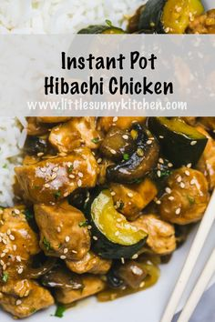 Dump and start Instant Pot hibachi chicken with mushrooms and zucchini cooked in. - Dump and start Instant Pot hibachi chicken with mushrooms and zucchini cooked in… – Ideas (i - Instant Pot Pressure Cooker, Pressure Cooker Recipes, Pressure Cooking, Slow Cooker, Pressure Pot, Hibachi Chicken, Marinade Chicken, Cooking Recipes, Healthy Recipes