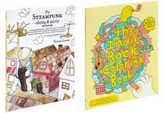 Non-cutesy and possibly educational coloring books