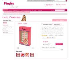 Website site para Finger's, cosméticos e unhas postiças