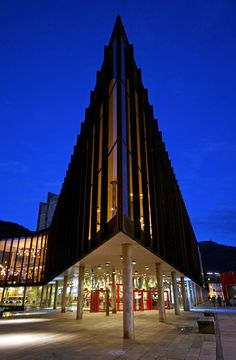 The Grieg Hall,  Music hall named after the composer Edvard Grieg Bergen, Norway Copyright: Erling Henriksen