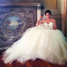Chrissy Tiegen shares photograph of her Vera Wang wedding gown