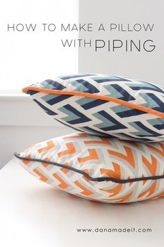 NEW VIDEO: How to make a Pillow or Cushion with Piping attached | MADE