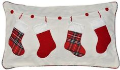 Spencer Home Decor Stockings on a String Holiday Oblong Throw Pillow