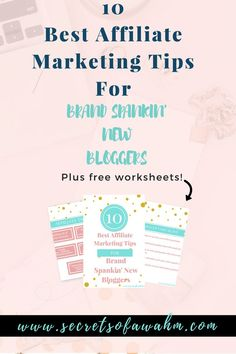 Ten Best Affiliate Tips for New Bloggers. Plus tools to help increase your affiliate sales. #secretsofawahm #affiliatemarketing #tips #new #blog #wordpress #makemoney