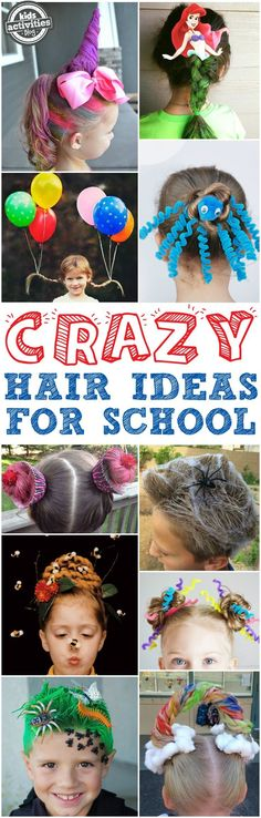 You've got to see these crazy hair day ideas for school! From unicorns to mermaids to bug-infested grass, we've found some of the most creative and craziest ideas out there! via /hollyhomer/
