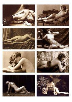 Aus schönen, alten Fotos (1900 - 1920) sind hier Bügelbilder entstanden, die Textilem einen dezenten Hauch von stilvoller Erotik verleihen. Mit den Bi
