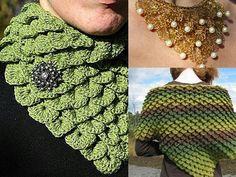 Crocodile stich scarf