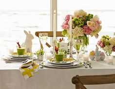 I love this spring flower bouqet and Easter tablescape, #alwayslooing for inpiration, Easter Dinner & Easter Centerpieces | Williams-Sonoma