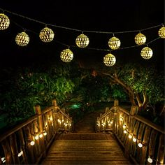 Goodia 30LED Solar Gold Moroccan Orb LED Globe String Lights for Curtain,Bedroom,Patio,Lawn,Landscape,Fairy Garden,Home,Wedding,Holiday,Christmas Tree,New Year,Party(Warm White). |  http://landscapeandlighting.net