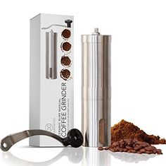 Best Consistent Grind Manual Ceramic Burr Coffee Grinder Stainless Steel With Adjustable Ceramic Burr For Precise Perfect Grind Every Time | Excellent For Espresso Turkish Coffee Pour Over And More - http://teacoffeestore.com/best-consistent-grind-manual-ceramic-burr-coffee-grinder-stainless-steel-with-adjustable-ceramic-burr-for-precise-perfect-grind-every-time-excellent-for-espresso-turkish-coffee-pour-over-and-more/