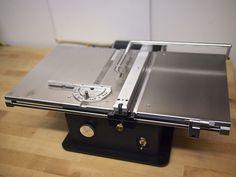 "Handbuilt high precision 4"" mini table saw by Byrnes Model Machines"