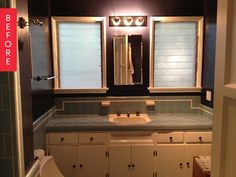 Before & After: Vintage Tile Is Spared in a Modern Bathroom Makeover