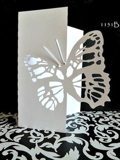 Butterfly 2 card set  with envelopes 1151ab by PetrinaCaseStudio, $5.00