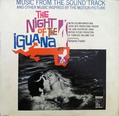 """Soundtrack LP: """"The Night of the Iguana,"""" 1964. The logo was by graphic designer Saul Bass."""