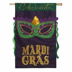 Celebrate Mardi Gras House Flag