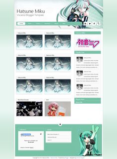 Hatsune Miku Blogger Templates