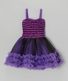 Take a look at this Purple Pettiskirt Dress - Toddler & Girls by Princess Expressions on #zulily today!