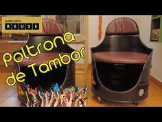 DIY Poltrona de Tambor/Tonel - YouTube