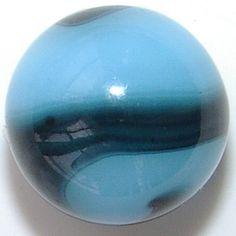 akro agate robin's egg corkscrew marble