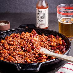 Campfire Sauce Campfire Sauce, Yummy Recipes, Yummy Food, Paella, Fried Rice, Beans, Sky, Wine, Dining