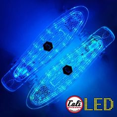 CALI Strong LED Light Skateboard with LED Light Wheels brings the retro back. A banana board with a rechargeable LED illuminated deck.