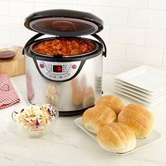 Multi-cooker: with presets for white rice, quick rice, brown rice, whole grains, oatmeal, slow cooking, steaming and dessert, I could get rid of a couple appliances!