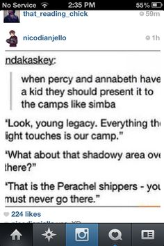 """They totally should! I can definately see Percy doing this and Annabeth being like """"Percy, put our child down before you drop her on her head like you were as a child!"""" Always repost."""