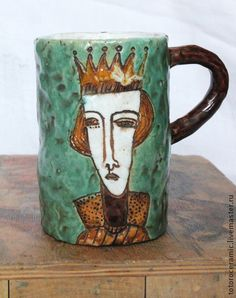 "Кружка ""Царь"", керамика. Handmade."