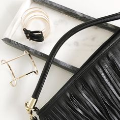 Fringed bag and cuff details | onlinestylist on Instagram |