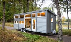 Tiny Home Sleeps Up To Eight, Is A Luxury Cabin With Full-Sized Conveniences - DesignTAXI.com