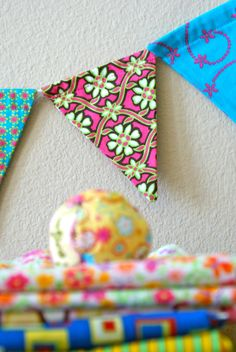 Funky Fabric Garland Bunting Banner Pennants Flags by InYourBones