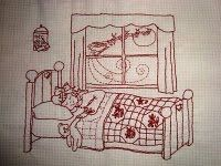JoyPatch: Freebies and Tutorials Redwork embroidery pattern - December 24th