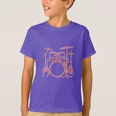 #Drum Kit Offset T-Shirt - #cool #kids #shirts #child #children #toddler #toddlers #kidsfashion