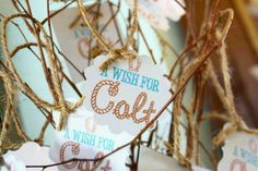 Wish tree for baby shower