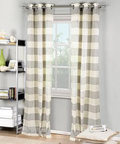 Loving this Silver Rye Stripe Panel - Set of Two on #zulily! #zulilyfinds