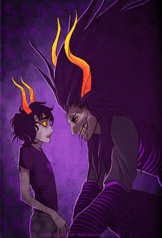 I always love this picture probably because to me it looks like a representation of Gamzee's inner struggle with his insanity (even though i know it's him and the GHB)