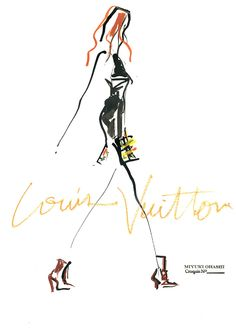illustration by: miyukiohashi Louis Vuitton, FALL 2014~❥