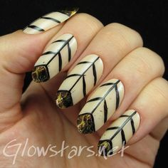 Snake skin chevrons: a manicure using Orly Sheer Nude, All That Jazz Welcome To After Hours and Barry M Gold Foil
