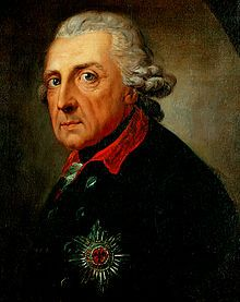 Friedrich II (der Große) 1712-1786 Enkel Georg I von England