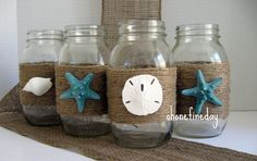Creative  Beach Theme Mason Jars Wedding Party Decoration Ideas - Decoration | Qdlake.com