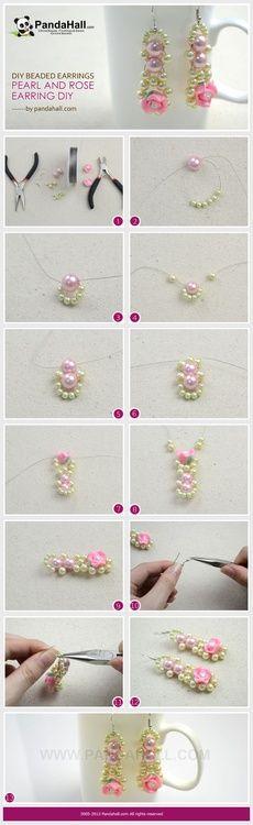 Jewelry Making Idea—How to DIY Pearls Rose Earrings  PandaHall Beads Jewelry Blog