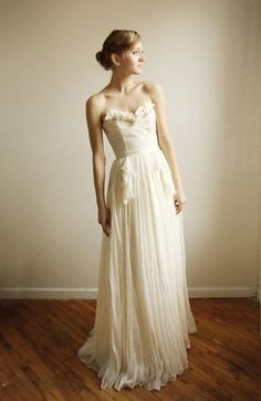 By Leanne Marshall  Alice- Silk Chiffon Wedding Gown--Etsy Exclusive. via  Etsy. Sparks Neil · Wedding Dresses 2444d282196b