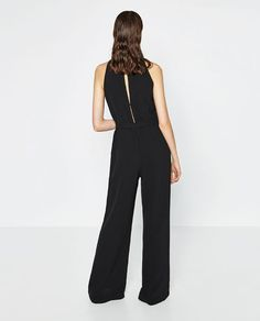 Image 5 of CREPE JUMPSUIT WITH BELT from Zara