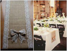 rustikal DIY Hochzeit Tischdekoration Ideen Spitze und Jute Tisch Gewebe Schleife DIY Ideen für Rustikale Hochzeit   Einladungskarten, Hochzeitsdekoration