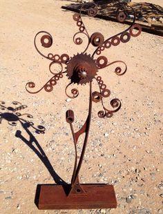 Twirl - scrap metal flower