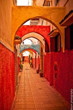 Africa | Colorful passageway, the Old Medina - Rabat, Morocco | ©  Beum เบิ้ม Portƒolio ~ love the colors