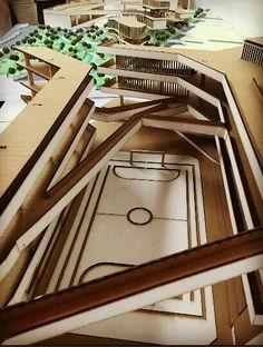 Taller IX Maqueta de recorte Proyecto CRC - Ufps Cúcuta Academia, Schools, College, Design, Projects, Urban Architecture, Apartments, Atelier, University