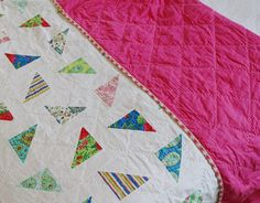 hand quilted scattered quilt.