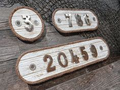 Stainless House Number Plaque - Home Address Number Plate - Condo Boat Slip Sign - Cottage Style Nautical Beach Residence Decor - Rope Edge Nautical Gifts, Nautical Home, House Number Plaque, House Numbers, White Beadboard, Drywall Installation, Beach Cottage Style, Beach House, Boat Slip